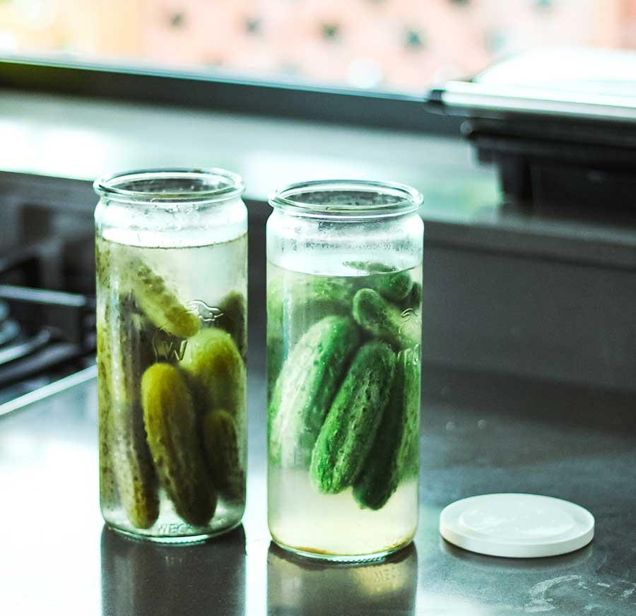 Pepinillos fermentados