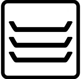 Símbolo horno precalentar vajilla