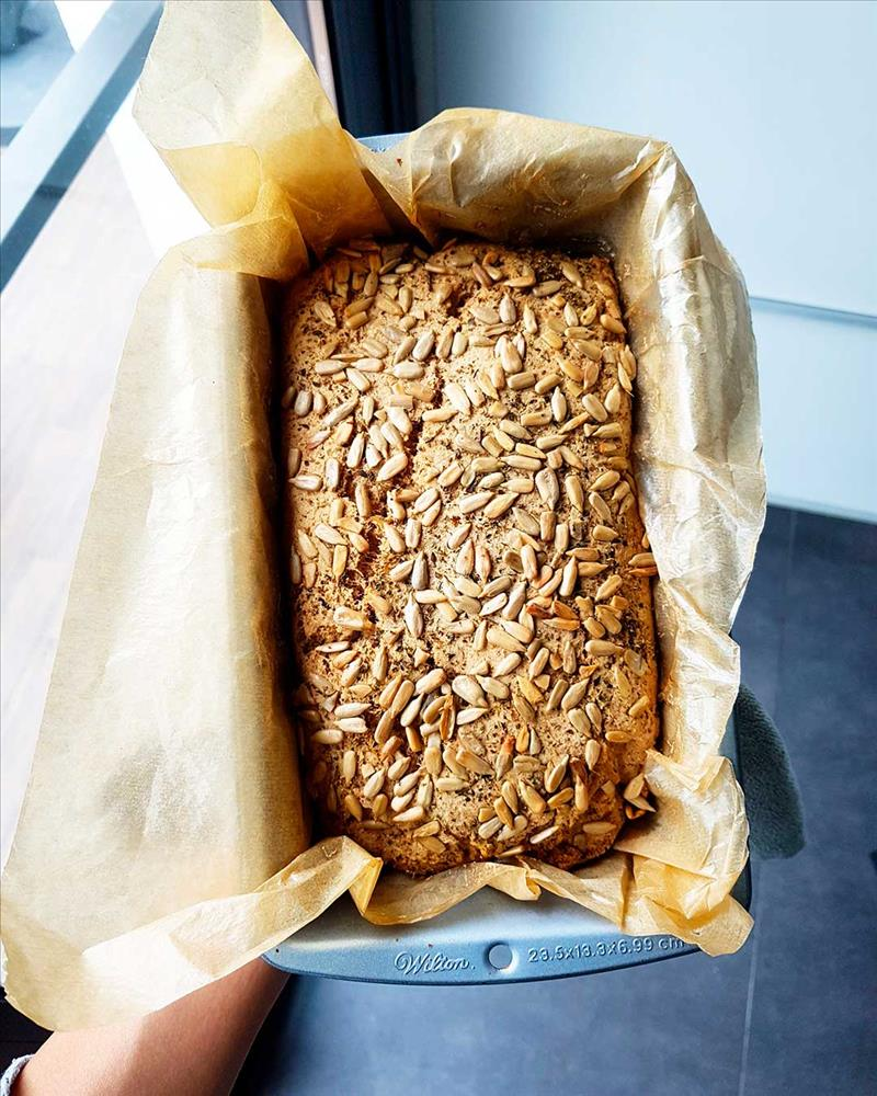 Pan sin gluten de harina de sorgo y tapioca