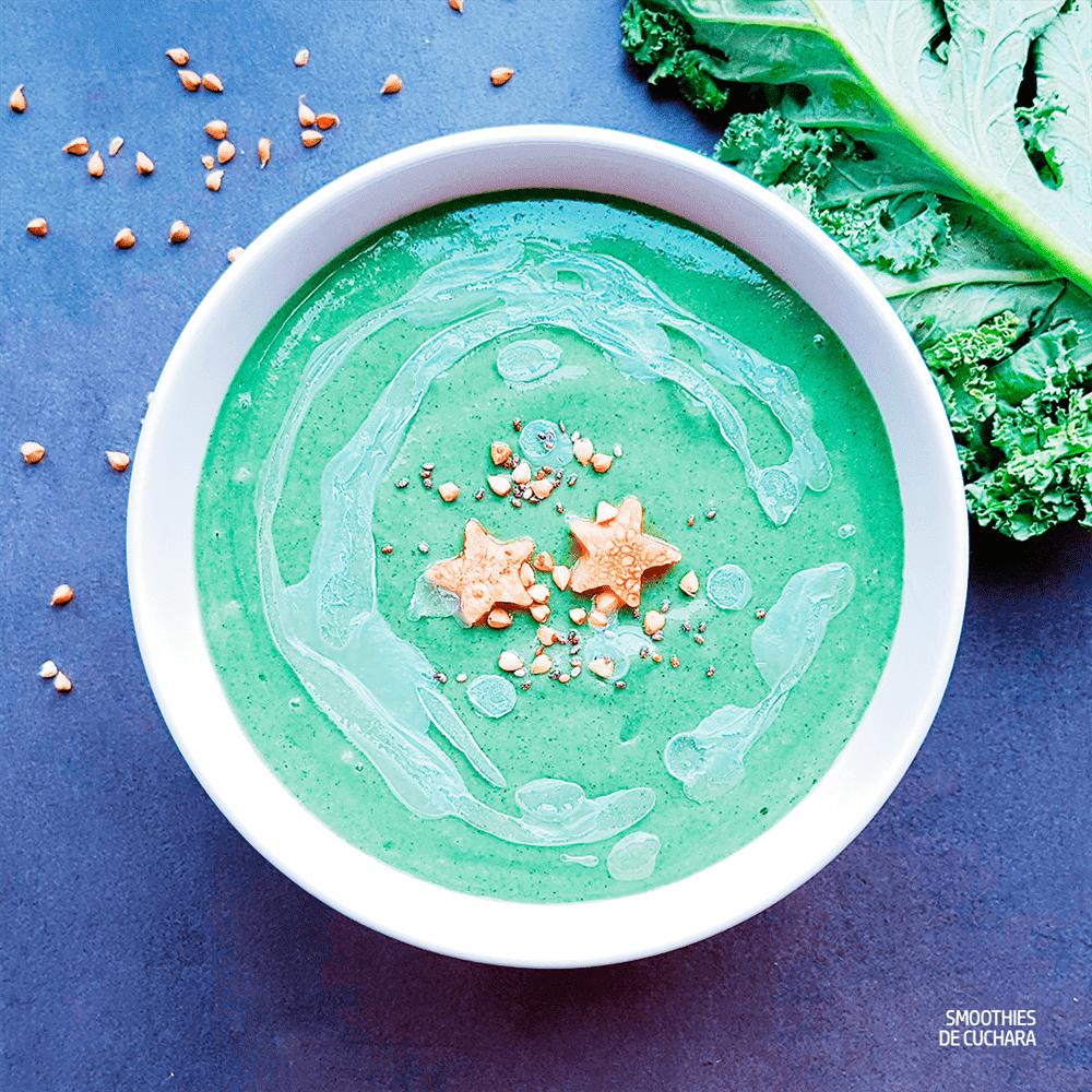 Smoothie de kale, melón y espirulina