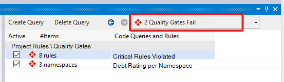 2 Quality Gates Fail
