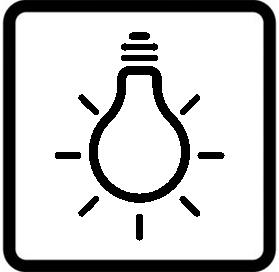 Símbolo horno luz