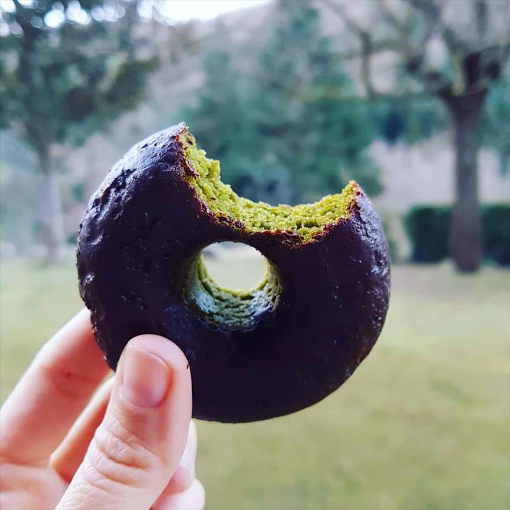 Donuts paleo de espinacas