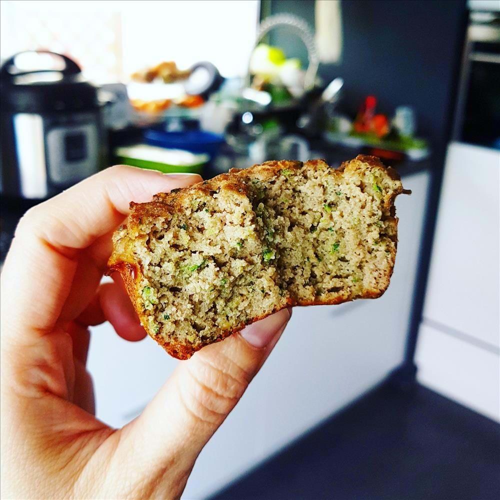 Muffins paleo de calabacín y harina de coco