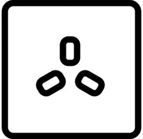 Símbolo horno ventilador