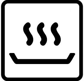 Símbolo horno conservar caliente